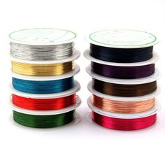 KKWEZVA 10 COLORS MIXED DIAMETER 0.3MM COPPER WIRE/ FLY BAIT MAKING MATERIAL MIDGE LARVE NYMPH FLY TYING MATERIAL