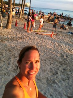 Tricia Copenhaver visiting the beach!