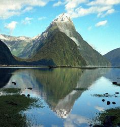Mitre Peak view at Milford Sound, New Zealand