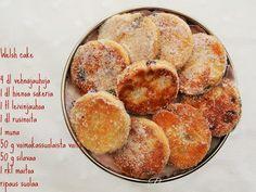Welsh cake / videoresepti — Peggyn pieni punainen keittio Scones, Muffin, Peach, Fruit, Breakfast, Cake, Food, Morning Coffee, Kuchen
