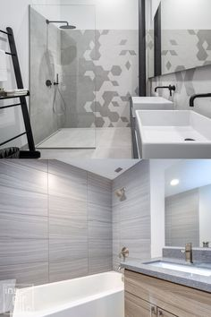 Searching For Gray Bathroom ideas? Take a look at this and browse Gray Bathroom and also Small Bathroom images/photos for decoration, layout, furnishings, vanity/ painted cabinets, flooring, tile, as well as storage inspiration with outstanding design styles from farmhouse to modern interior #bathroom #smallbathroom #graybathroomideas Best Bathroom Paint Colors, Grey Bathroom Tiles, Bathroom Color Schemes, Grey Bathrooms, Small Bathroom, Bathroom Photos, Bathroom Ideas, Bright Color Schemes, Modern Farmhouse Bathroom