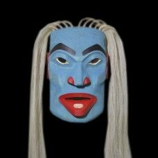 Otterwoman Mask by John Wilson, NW Coast Nation Mask Face Paint, Native American Masks, John Wilson, African Sculptures, Tlingit, Indigenous Art, Native Art, First Nations, Art Forms