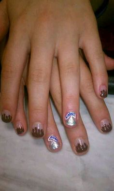 chocolate hersheys kisses nail art youtube nails candy hershys kiss nail art prinsesfo Images