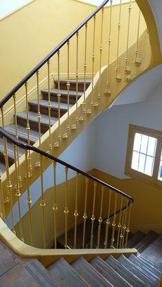 spanish stairwell  madrid, spain