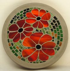 Flowers mosaic stepping stone  (1306) es £30.00