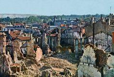 View of Verdun after 8 months of bombing, September 1916.