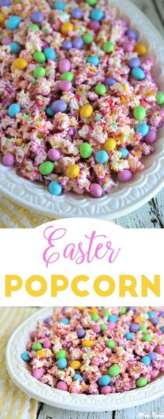 Easter Popcorn is the perfect compromise between a sweet or savory snack. Great … Easter Popcorn is the perfect compromise between a sweet or savory snack. Great way to celebrate Easter! Gourmet Popcorn, Popcorn Recipes, Popcorn Mix, Microwave Popcorn, Popcorn Favors, Easter Snacks, Easter Brunch, Easter Food, Easter Decor