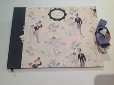 CARTONNAGE EN EL TALLER DE CURRA: Libro de firmas para boda