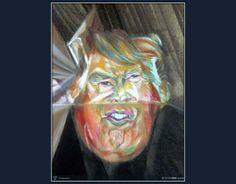 HBD...Donald Trump /Entrepreneur #Creative #Art #Painting @Touchtalent.com