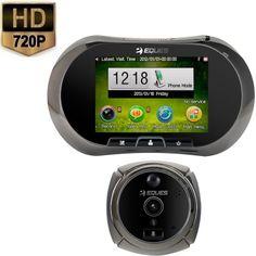 Deurspion Camera GSM Alert HD 720P  Deze deurspy camera maakt nu direct een foto of video wanneer er een persoon voor de deur staat. Bij beweging wordt er dus direct een foto of video opname verricht dit is vooraf door u in te stellen. De beelden worden in hoge HD beeld kwaliteit opgenomen. Daarnaast is dit model voorzien van nachtzicht.U installeert de digitale peephole viewer binnen enkele stappen in de voordeur en kan direct zien op het LCD scherm wie er voor de deur staat. De digitale…