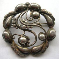 Georg Jensen Moonlight Blossom Brooch In All Sterling Silver - 159 on Etsy, $1,463.79 AUD