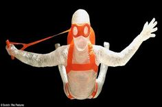 The sky diver-Amazing packing tape sculptures