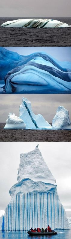 Icebergs - these are really beautiful! take a good look. They're disappearing!