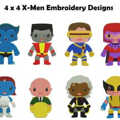 X-Men Embroidery Designs | Storm Embroidery Designs | Magneto Embroidery Designs | Cyclops Embroidery Designs | Beast Embroidery Designs | Professor X Embroidery Designs