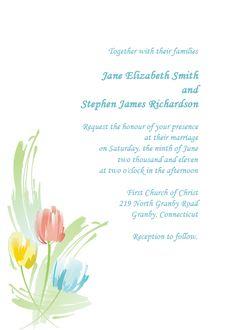 Watercolor Series – Wedding Invitation Template – Tulips