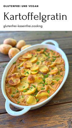 köstliches gutenfreies und veganes Kartoffelgratin geeignet bei Zöliakie, Allergie oder gfcf Diät bei Autismusglutenfrei