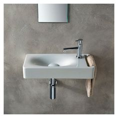 Buy the Nameeks Scarabeo Hole White / One Hole Direct. Shop for the Nameeks Scarabeo Hole White / One Hole Scarabeo Ceramic Bathroom Sink For Wall Mounted Installation - Less Overflow and save. Bathroom Sink Organization, Bathroom Sink Design, Small Bathroom Sinks, Wall Mounted Bathroom Sinks, Sink Organizer, Bathroom Sink Faucets, Bathroom Ideas, Modern Bathrooms, Cuba