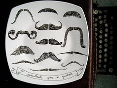 I Moustache You a Question Plate by PerDozenDesign on Etsy