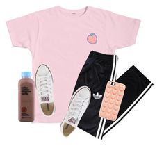 """""""ur a peach  (◡‿◡✿)"""" by amsyes ❤ liked on Polyvore featuring adidas, Converse and Marc Jacobs"""