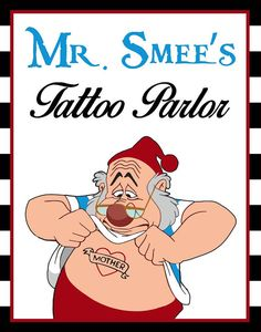 Mr. Smee's Tattoo Parlor Sign
