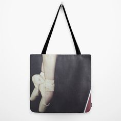 Ballerina Tote Bag Pointe Shoes Tote Bag Dancer by whimsycanvas, $30.00