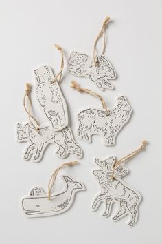 Land & Sea Ceramic Gift Tag Set - Anthropologie.com