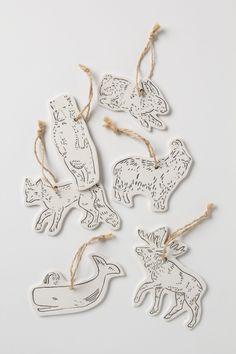 Land & Sea Ceramic Gift Tag Set - Anthropologie.com