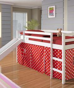 Polka Dot Tent Twin Loft Bed & Slide
