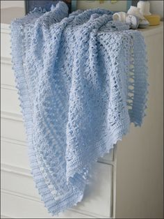 Crochet Baby Blue Blanket