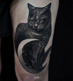 Thigh cute cat tattoo - 100  Examples of Cute Cat Tattoo  <3 <3