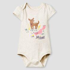Baby Girls' Vest, Fawn Bodysuit and Tutu Skirt Baby Cat & Jack™  - Grey/Tan…