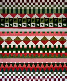Row by Row Jacquard Quilt by Benita Skinner from Victoriana Quilt Designs