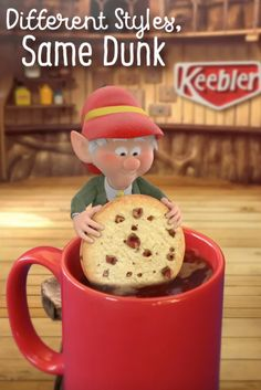 There are plenty of different coffee mugs out there, but I think Keebler Pecan Sandies Shortbread cookies are the perfect match for each one! The light, buttery flavor and added pecan crunch go great with any cup of coffee.