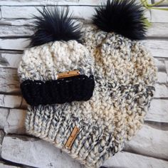 Excited to share this item from my #etsy shop: Mommy and Me Toques, Mommy and me Hats, Mommy and me gift, matching toques, gender neutral gift