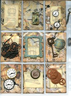 Steampunk style Pocket Letter sent by me to Ellen (Back)