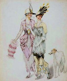 z- Borzoi w Two Woman, 1914 (Fashion illus) -2b