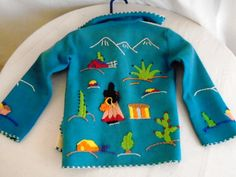 1950's Childs Jacket Vintage Mexican Embroidered by rue23vintage