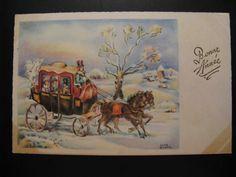 3 x Antique unused Postcards c. 1930...New Year's wishes /  Bonne Année...