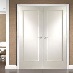 Shaker white primed 4 panel bifold door safety glass doors and pattern 10 full panel white primed door pair fantastic size options simple elegance at a great price planetlyrics Gallery