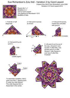Teabag Fold Instructions - Sue Richardson's Zulu fold - Variation 2
