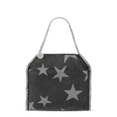 Black Falabella Denim Star Small Tote - Stella Mccartney Official Online Store - FW 2016 - 2017