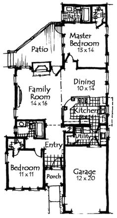 Secure Covered Entry - 59922ND floor plan - Main Level