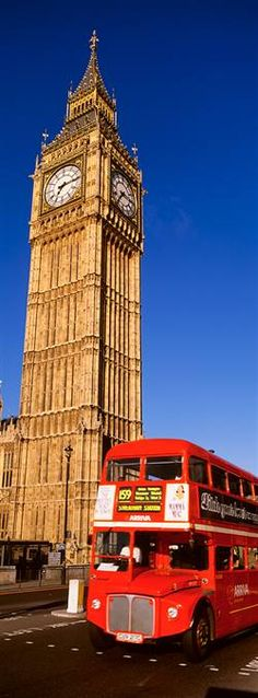 Big Ben and Double Decker Bus, London
