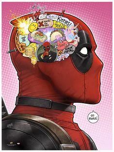 Deadpool by David Nakayama Deadpool Y Spiderman, Deadpool Funny, Marvel Funny, Marvel Dc Comics, Marvel Heroes, Marvel Avengers, Funny Comics, Deadpool Fan Art, Dead Pool