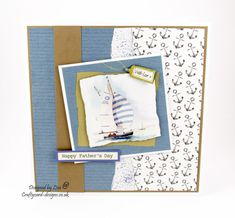 Handmade card : This card has been made using free papers by Debbi Moore