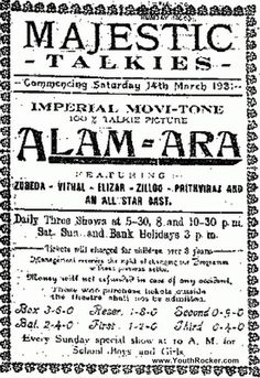 Alam Ara - India's first talkie