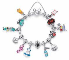 Disney Pandora Bracelet, Pandora Charms Disney, Pandora Bracelets, Pandora Jewelry, Disney Princess Jewelry, Disney Jewelry, Cute Jewelry, Charm Jewelry, Pandora Collection
