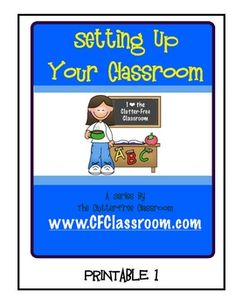How to Set Up A Classroom. This free printable is part of my Setting Up Your Classroom Series. It was designed to help you plan out the layout of your classroom and features Thistlegirl Designs clipart.