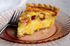 Brie and bacon quiche. I am not a fan of Brie but I am sure I can substitute for another cheese