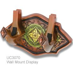 wall mount display plaque for UC3070 Short Bow and Arrow of Legolas Greenleaf prop replica licensed product from the Hobbit by United Cutlery